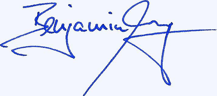Signatur Benjamin Lang